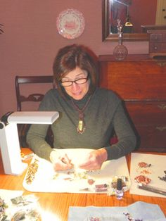 Marsha Ray Beaded Jewelry Designs  Marsha doing a demo during the first Turtle Tour this past October.