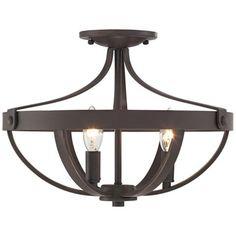 "Anaya 15"" Wide 3-Light Bronze Ceiling Light"