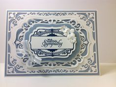 Spellbinders Elegant Labels 4, Inspired by Stamping coordinating stamp, Stampin Up Simply Sketched sentiment.