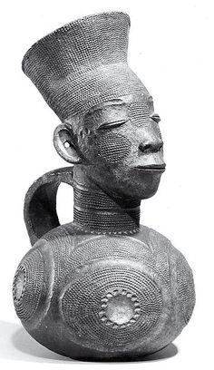 Figurative Vessel 19th–20th century Democratic Republic of the Congo Mangbetu peoples Terracotta