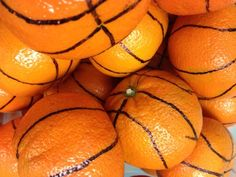 Oranges become basketballs! PERFECT for National School Lunch Week: Get in the Game with School Nutrition (www.facebook.com/...)