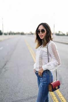 Inspiration: White Lace Blouse – 5 feet of style