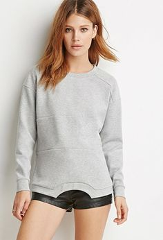 Paneled Scuba Knit Sweatshirt | LOVE21 | #f21contemporary