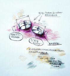 "My paintings——<Saint Seiya>Hand painted.My own design Saint. 2016.July.18晚打稿,19号上午完成,冰河&梨(天鹅座+南十字座.彩色圆珠笔)对戒人设图,用老姐买来的彩色圆珠笔上色。戒指为白银质感,造型按照星矢、纱织二人的想法打造,刻有""Hyoga & Lê""的字样。是星矢、纱织送给冰河、梨两人的结婚礼物~~~"