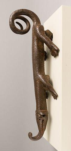 Door knocker in the shape of a lizard-like creature | Spanish | The Met