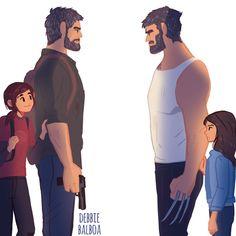 Joel meets Logan by JuanmaWL.deviantart.com on @DeviantArt