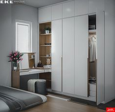 45 Creative Bedroom Wardrobe Design Ideas That Inspire On Like everything else in life, there are those who were born to plan out bedrooms and those who would rather … Bedroom Cupboard Designs, Wardrobe Design Bedroom, Bedroom Cupboards, Closet Bedroom, Home Decor Bedroom, Modern Bedroom, Decor Room, Bedroom Furniture, Closet Office