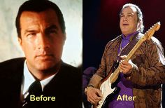 Aging... Steven Seagal  Didn't like it before, like it less now! Phoney never was/is handsome!