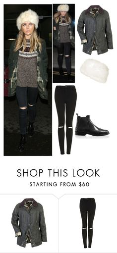 """""""Perrie Edwards exact #439"""" by ilikewarmhugsolaf ❤ liked on Polyvore featuring Barbour and Topshop"""