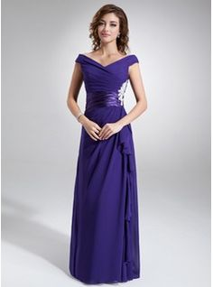 Mother of the Bride Dresses - $168.99 - A-Line/Princess Off-the-Shoulder Floor-Length Chiffon Charmeuse Mother of the Bride Dress With Ruffle Appliques  http://www.dressfirst.com/A-Line-Princess-Off-The-Shoulder-Floor-Length-Chiffon-Charmeuse-Mother-Of-The-Bride-Dress-With-Ruffle-Appliques-008006216-g6216