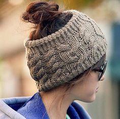 The Fashion Serratula Wool Hair Band Knitted Headband-Grey