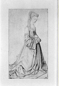 Kneeling woman by @artistweyden #northernrenaissance