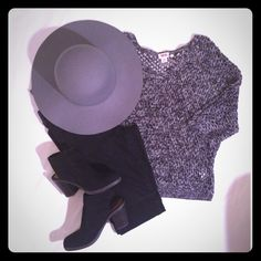 Mossimo Black & Gray Knit Sweater Love this Sweater! Super cute with a skirt or denim! NWOT! 100% Cotton PRICE IS NOT FIRM OFFERS ACCEPTED UPON REQUEST... Mossimo Supply Co. Sweaters V-Necks