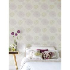 Buy Harlequin Gardenia Wallpaper, Cassis/Fennel 60403 Online at johnlewis.com