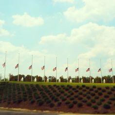 Ft. Benning - Army Base, Columbus, GA. This is a beautiful, welcoming main gate