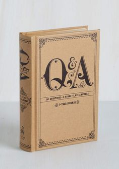Vintage Inspired, Dorm Decor, Handmade & DIY, Scholastic QA a Day Five Year Journal by ModCloth