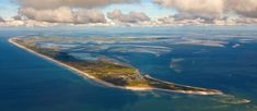 Photo flight over the North Frisian Wadden Sea, view from SSW (200 °), 1 km altitude and 4 km distance to Sylt