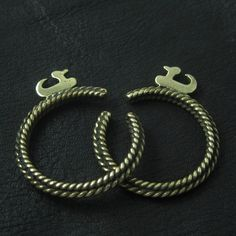 Slavic temple rings from Wrocław, Poland, c. 10th century