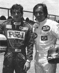 Legends, Ayrton Senna and Emerson Fitipaldi ~ 1984