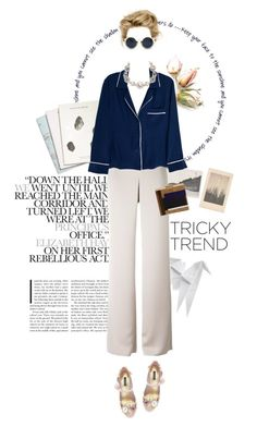 """Pajama style"" by aivvva ❤ liked on Polyvore featuring Hermès, Armani Collezioni, Maison Scotch, Alessandra Mackenzie, Marchesa, Dolce&Gabbana, Retrò and Tory Burch"