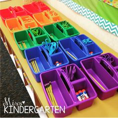 Colorize Your Classroom Challenge: Love this color coding organization system!