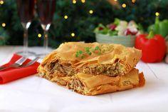 Πίτα με μανιτάρια πλευρώτους και πολύχρωμες πιπεριές | Cool Artisan Spanakopita, Ethnic Recipes, Food, Essen, Meals, Yemek, Eten