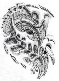 biomechanical chest piece. by sarcovenator on @DeviantArt