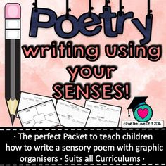 This is a lovely lesson that will take around 1-2 weeks to complete depending on your class. It incorporates elements of functional grammar and poetic devices within the writing. The packet teaches the children how to write a poem using the senses where each stanza focuses on one sense.