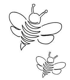 Continuous line quilting bumblebees