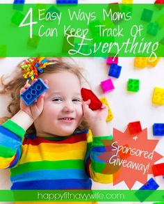 """""""4 Easy Ways Moms Can Keep Track Of Everything"""" + a sponsored giveaway from StickerKid!  Great tips and fun giveaway from a milspouse"""