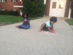 Chalk time with vaishnavi