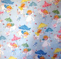 Vintage Wrapping Paper  Angel Greeting  Full by TillaHomestead, $6.50