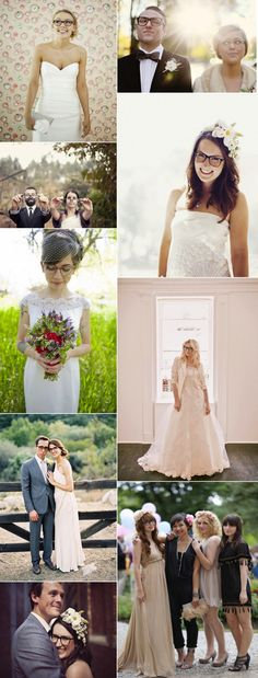 Brides in glasses.  Because it's kinda nice to look like yourself on your wedding day.