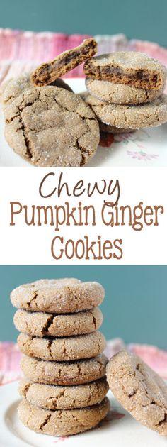 Pumpkin Ginger Cookies on everydaymadefresh.com