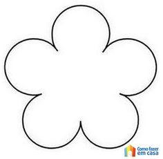 molde flor 5 petalas - Pesquisa Google