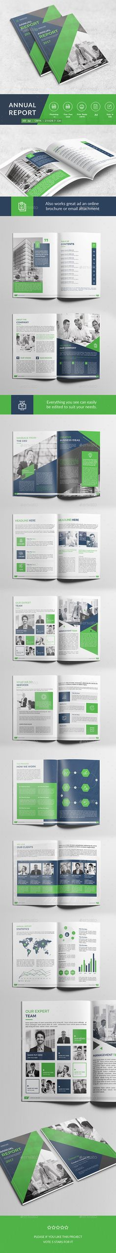 Annual Report \u2014 InDesign INDD #85x11 #corporate template \u2022 Download - Summary Report Template