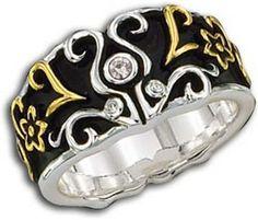 Western Filigree Silver Ring