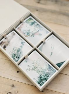 Heirloom Bindery Print Box. It holds over 200 photo prints and has a seamless, simple and architectural design. The box is made of beautiful cotton linen and stamped with custom gold foil designs. The most stunning albums and boxes in the wedding industry. Artisan made from start to finish (TM).