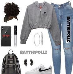 MORE PICTS You can also see more ideas about baby nike outfits , nike outfits sweatshirts , nike outfits volleyball , nike outfits dress , n. Casual School Outfits, Baddie Outfits Casual, Swag Outfits For Girls, Teenage Girl Outfits, Cute Swag Outfits, Cute Comfy Outfits, Dope Outfits, Teen Fashion Outfits, Hipster Fashion