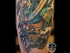 japanese samurai helmet tattoo - Google Search