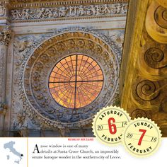This baroque style rose window can be seen at the Santa Croce Church in Leece, Italy. #InstaTravel #Wanderlust #TravelGram #BestoftheDay #Instagood #Traveling #Vacation #igtravel #instatravel