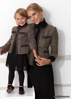 """""""Dressed in suits, Mommy and I are ready to go."""""""