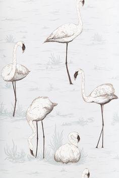 White Flamingo Wallpaper via Anthropologie