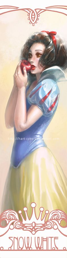 Disney Princesses Bookmarks: Snow White by hart-coco on deviantART