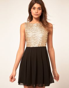 TFNC | TFNC Babydoll Dress with Sequin Bodice at ASOS