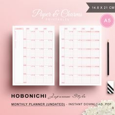 Hobonichi-Monthly-Planner-Pink