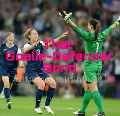Yes... As a goalie, I know there have been so many times the defenders have had my back, and I've had theirs!