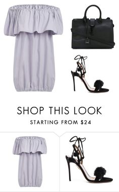 """""""Untitled #406"""" by cigerett ❤ liked on Polyvore featuring Aquazzura and Yves Saint Laurent"""