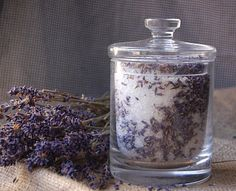 DIY Lavendel Badesalz
