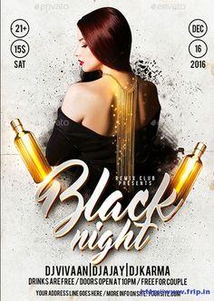 35+ Best Black Friday Club Party Flyers 2016 #BlackFridaySale  http://www.frip.in/black-party-friday-night-club-flyer-templates/